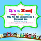 It's a Hoot! Owl Clipart Frames Backgrounds Borders for Co
