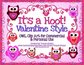 It's a Hoot! Valentine Style Owl Clipart & Graphics for Co
