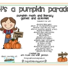 It's a Pumpkin Parade {pumpkin math & literacy activities}