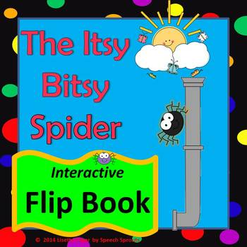 Itsy Bitsy Spider Flip Book for Preschool and Kindergarten Speech    Itsy Bitsy Spider Book