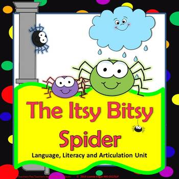 Itsy Bitsy Spider Speech Therapy Language Literacy & Articulation Unit