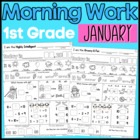JANUARY FIRST GRADE Morning Work COMMON CORE