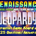 JEOPARDY! Renaissance Jeopardy