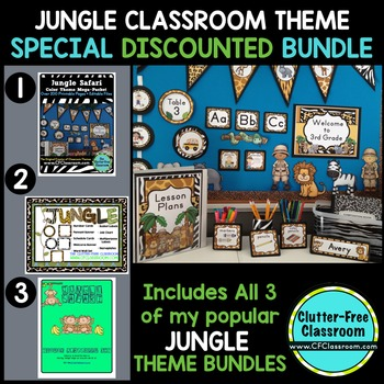 JUNGLE ~ SAFARI THEMED CLASSROOM KIT