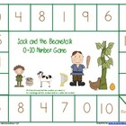 Jack and the Beanstalk Number and NUmber word game boards
