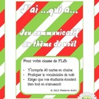 J'ai Qui a Oral French Chain Activity - Christmas themed (noël)