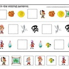 Jake and the Neverland Pirates themed Missing Pattern pres