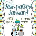 Jam Packed January Math and Literacy Centers
