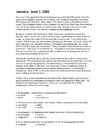 Jamaica non-fiction article Worksheet