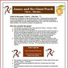 "James and the Giant Peach ""I have, who has"" comprehension"