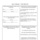 Jane's Mistake Activity Sheets ~ Phonics Library ~ Houghto