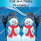 January Cut and Paste Printables