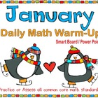 January Daily Math Warm-Up (1st Grade Common Core)