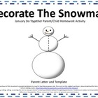 Snowman Do Together Parent/Child Homework Activity