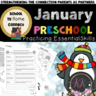 January Homework Packet: Preschool (The Mitten)