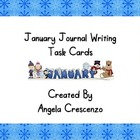 January Journal Writing Task Cards