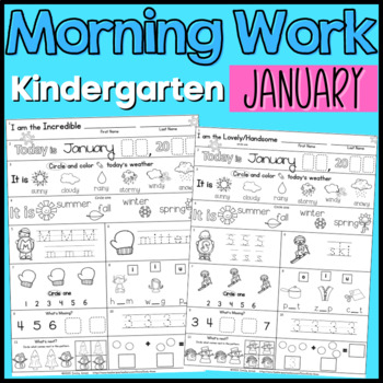 January Kindergarten Morning Work (COMMON CORE)
