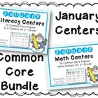 January Literacy & Math Centers Menu BUNDLE {Common Core Aligned}