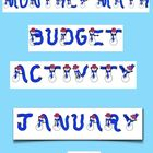 January Math Budget Activity