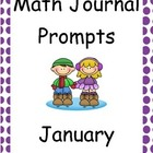 January Math Journal Primary