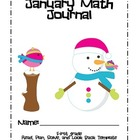 January Math Journal - Read, Plan, Solve and Look Back Template