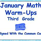 January Math Warm-Ups- Third Grade Common Core Aligned