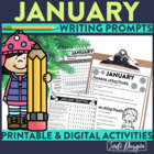 January Mega-Writing Packet {Task Card Prompts, Posters, &