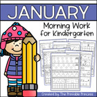 January Morning Work for Kindergarten {Common Core Aligned}