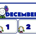 January Number Calendar Set *freebies
