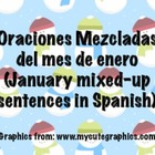 January Scrambled Sentences in Spanish