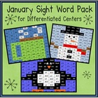 January Sight Word Pack (Differentiated for K-2)