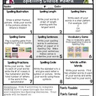 January Spelling Choice Board {Editable Word Lists}