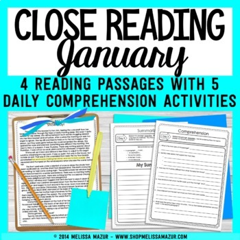 January Weekly Close Readings
