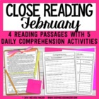 February Weekly Close Readings