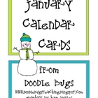January / Winter Calendar Cards