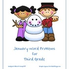 January Word Problems for Third Grade