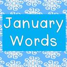 January Words Packet