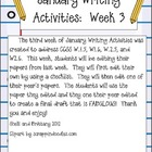 January Writing Activities:  Week 3