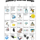January Writing BINGO