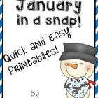 January in a Snap:  Ready to Go Printables for Common Core Skills