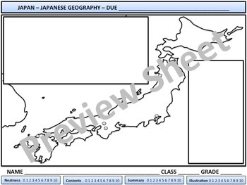 Japan - Japanese Geography - Homework