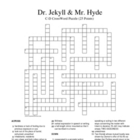 Jekyll and Hyde 25 C-D Words Crossword Puzzle (Stevenson)