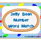 Jelly Bean Number Word Match game