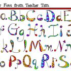 Jester Font in Jewel Tones and Black & White