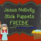 Jesus Nativity Stick Puppets