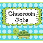Job Chart Lime Teal Polka Dot Theme