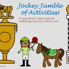 Speech Therapy: Jockey Jumble of Activities