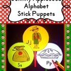 Johnny Appleseed: Alphabet Stick Puppets {Alphabet Activit