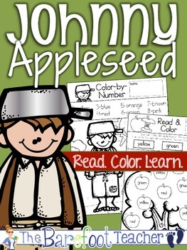 Johnny Appleseed {Apples} Read. Color. Learn. Activity Sheets