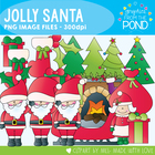 Jolly Santa - Christmas Clipart Set for Teachers